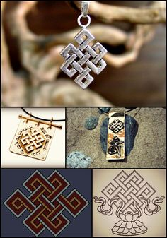 The Tibetan knot (Srivatsa or the endless knot) is one of the eight symbols of the Tibetan Buddhism. The Tibetan knot can stand for karmic consequences: pull here, something happens over there. It is an apt symbol for the Vajrayana methods: Often when we tug at one part of a knot while trying to loosen it, another part gets tighter. You have to work with the knot to get it to come undone. In its endless configuration, it evokes the cyclic nature of rebirth and also calls karmic connections…