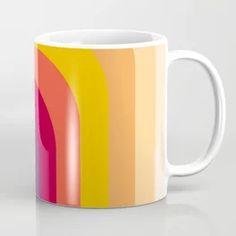 Abstract Geometric Retro Color 70s Vintage Pattern Coffee Mug