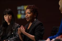Bonnie Greer OBE --Playwright, Novelist and Critic -- at the Women In The World London Summit on October 9, 2015.