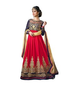 Loved it: Ajay And Vijay Red Pure Georgette Semi Stitched Embroidered Salwar Suit, http://www.snapdeal.com/product/ajay-and-vijay-red-pure/109306649