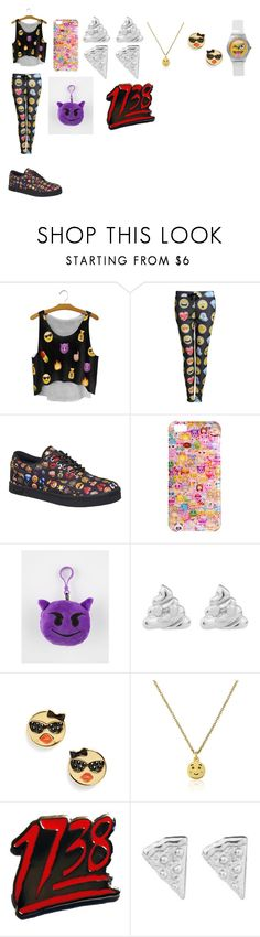 """""""Emoji Swag"""" by breezybrebre on Polyvore featuring beauty, Pilot, Vlado, Boohoo, Rock 'N Rose and Kate Spade"""