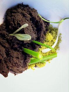 Homenaje a Galicia. Bocado fresco de mar 3 algas + Foie en polvo #forumgirona13 Vía @FerrerPepe