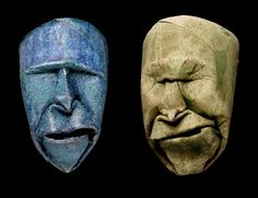Toilet Paper Rolls Squished into Funny Faces by Junior Fritz Jacquet sculpture paper humor
