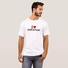 I love Pakistan country like heart travel tourism T-Shirt  $18.95  by tony4urban  - custom gift idea