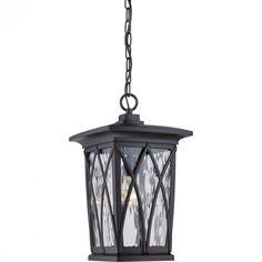 Quoizel GVR1910K - Grover Outdoor Lantern, Mystic Black
