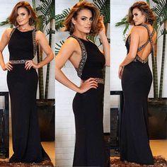 BLACK DRESS - Frente e costas da nossa opção de dress DEUSO! ✌ Parceria: @rafaellagurgel