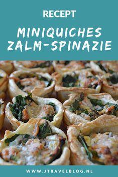 Ik heb een heerlijk recept voor je gemaakt: miniquiches met zalm en spinazie. Makkelijk en snel te maken. Eet smakelijk. Hier lees je hoe je dit recept zelf kunt maken. #recept #quiche #spinazie #zalm #jtravel #jtravelblog