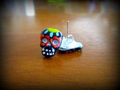 Sugar Skull Rockabilly pin up hand painted by HauntedHairCandy, $4.00