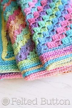 Felted Button - Colorful Crochet Patterns: Spring into Summer with a FREE Crochet Blanket Pattern