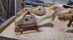 mini helicopteros em madeira