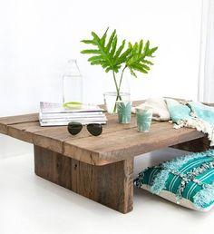 As low or as high as you like with The Lowrider coffee table. All of our recycled timber furniture is made to order and made to last, just like the materials we use. Low Coffee Table, Outdoor Coffee Tables, Modern Coffee Tables, Beachy Coffee Table, Dark Wood Coffee Table, Recycled Timber Furniture, Outdoor Furniture, Floor Desk, Japanese Table