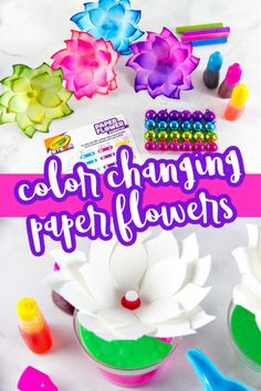 Kids will love the Crayola Paper Flower Science Kit. Watch flowers change color before your eyes. Holiday Crafts For Kids, Diy For Kids, Holiday Fun, Science Projects For Kids, Science Experiments Kids, Diy Projects, Easy Arts And Crafts, Business For Kids, Craft Party