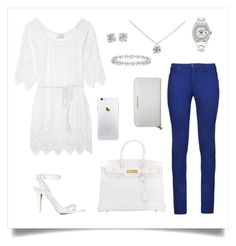 theme : casual by notgirl on Polyvore featuring polyvore, fashion, style, Miguelina, Armani Jeans, Alexander Wang, Hermès, Burberry, Rolex and Tiffany & Co.