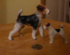 Lot of 2 Wire Hair Fox Terrier Figurines Ucagco dogs Japan picclick.com