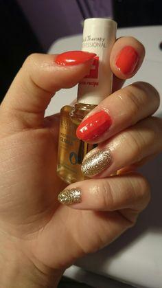 paznokcie hybrydowe, wykonane za pomocą marki NeoNail oraz Semilac