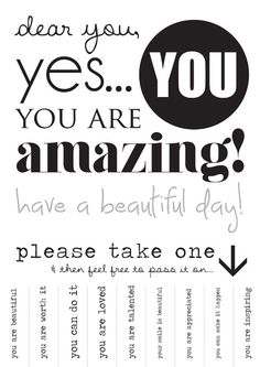 PLEASE Take one! <3