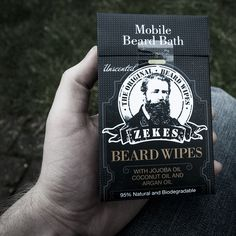 www.zekesbeardwipes.com  Our beard wipes provide you with a mobile bath for your beard. A great stocking stuffer for guys with beards. Gifts for him.