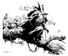 Si Frank Frazetta hubiera ilustrado la Tierra Media ~ La Espada en la Tinta: Literatura fantástica, cómics y ficción