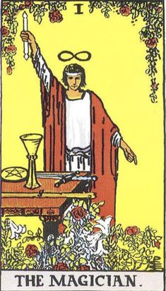 The Magician of the Tarot Major Arcana brings a solution - or an illusion. The card and its divinatory meaning in readings, explained by Stefan Stenudd. Tarot Card Decks, Tarot Cards, The Magicians, Religion Wicca, Tarot Significado, The Magician Tarot, Rider Waite Tarot, Tarot Major Arcana, Tarot Card Meanings