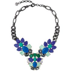 Stella & Dot Peacock Necklace ($128) found on Polyvore
