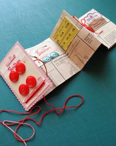 sweet! nice gift too. sewing package from an old sewing pattern.