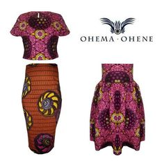 African print Two-Piece African Print Dresses, African Wear, African Attire, African Women, African Clothes, African Prints, African Inspired Fashion, African Fashion, Ankara Fashion