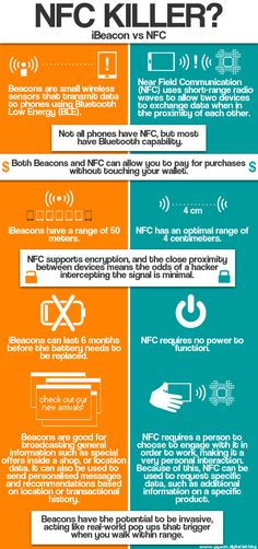 iBeacon vs Near Field Communications (NFC) ... the choice is becoming obvious as to which is more cost effective and which will return an informed ROI.