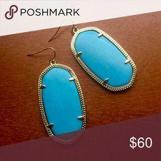 Kendra Scott Turquoise Danielle Earrings Kendra Scott turquoise Danielle earrings. Kendra Scott Jewelry Earrings
