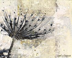 Citra Artist: Art in Bloom Art And Illustration, Watercolor Illustration, Mixed Media Collage, Collage Art, Dandelion Drawing, Art Journal Techniques, Encaustic Painting, Botanical Art, Altered Art