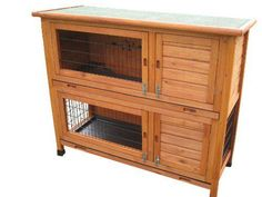 LIGHTNING DEAL ALMOST GONE Double Decker Rabbit / Guinea Pig Hutch SAVE 47% NOW £63.83