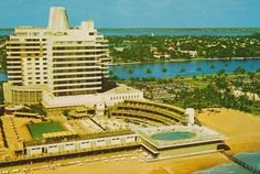 The Architect's Eye: Two Neobaroque Hotels that Defined Miami Style- Eden Roc Hotel, mid-1950's, architect Morris Lapidus
