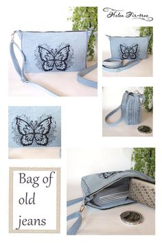 Helen Fir-tree machine embroidery  #handmade  #bag #machineembroidery  #sewing  #helenfirtree  # jeans  #ofoldjeans  #recycle Fir Tree, Old Jeans, Drawstring Backpack, Machine Embroidery, Recycling, Backpacks, Sewing, Handmade, Bags