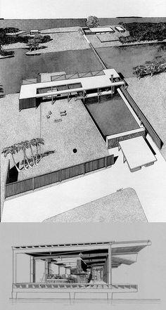 Architect: Paul Rudolph Project: Finey House Location: Sarasota Year: 1947