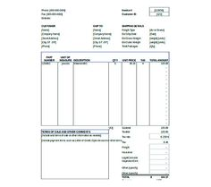 Commercial Carrier Invoice Template  Commercial Invoice Template