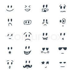 Draw Facial Expression Clipart vectoriel : Set of hand drawn smiley faces. Smiley Faces, Cute Smiley Face, Cartoon Smiley Face, Cartoon Faces, Emoji Drawings, Doodle Drawings, Easy Drawings, Smileys, Human Face Drawing
