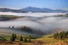 Pieniny morning by Marian Kmet ~ Beautiful view of High Tatras from Lesnicke sedlo, Slovakia (from the Pieniny part of the Carpathian Mt. range)