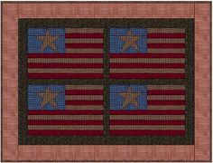Free Americana flag foundation paper piecing quilt pattern