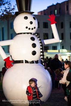 Giant Snow Man in Downtown Enid