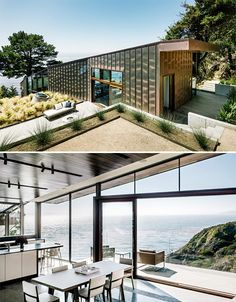 Tranquil Modern Big Sur Home is a Glass Path to the Sea