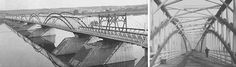 Fredericton's Carleton Street Bridge -Small fires often broke out on the bridge deck, and were usually blamed on discarded cigars. Bridge Design, New Brunswick, Cigars, Bridges, Saints, Deck, Fire, Spaces, History