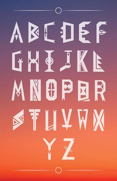 Native Typeface by Trey Gaines, via Behance
