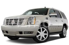 Front view of silver 2009 Cadillac Escalade Hybrid SUV