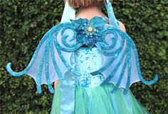 -fairy mermaid dress with wings for girls