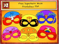 Free Superhero Mask Printables - or Design your own masks -from Charlotte's Clips http://pinterest.com/kindkids/charlotte-s-clips/