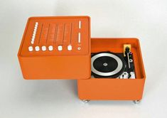 The 15 most incredible Space Age record players Designed by Dane Verner Panton in 1963, the Wega 3300 Hifi Stereophonic system is a real classic. Containing a radio in the top half and a record player in the base it was a Bauhaus meets pop art phenomenon, appearing in both classic white or orange colours.