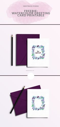 Download a free watercolor greeting card printable for both Eid and another for the occasion .Download instantly and print according to convenience.