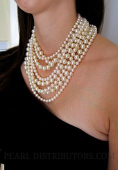 Must have #pearls to wear with little black dress - classic and timeless style!