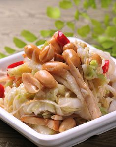 涼拌白菜心  						Crunchy white cabbage  Photo By Vicki Li