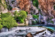 Blagaj, Bosnia. At the spring of Buna river, built in the 1500s