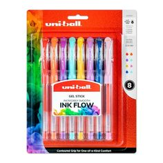 Colorful Notes, Cool School Supplies, Gel Ink Pens, Art Case, Write It Down, Metallic Colors, Bold Colors, Too Cool For School, Pen Sets
